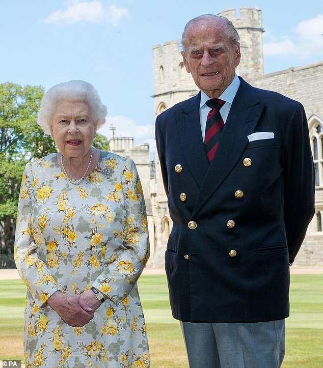 Royals: Prince Philip has been played by Matt Smith and Tobias Menzies so far in previous series of The Crown (pictured the real royal with the Queen in a snap to mark his 99th birthday)