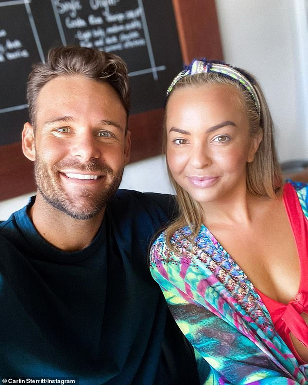 Truth: 'We were dating for 10 months after the show. So for people to even say what they had said, that he is faking it and stuff... well, no,' he said. Pictured: (R) Angie Kent
