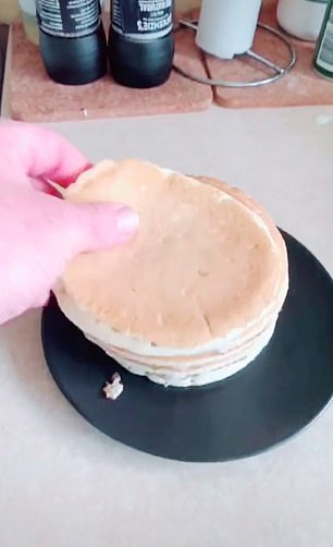 Did he make these fluffy pancakes in the air fryer or not?