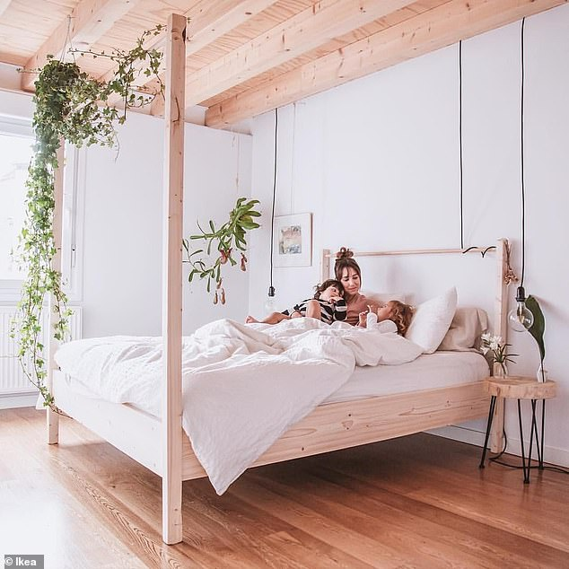 The GJÖRA bed (pictured) from the Scandi homewares store costs just $559, but looks like designer products worth more than four times the price