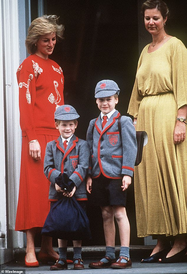 It comes after royal biographer Omid Scobie said Princess Diana (seen left in 1989) reunites Prince Harry and Prince William and 'got them to solve their problems'.