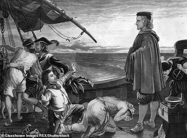 Christopher Columbus (pictured) is not responsible for bringing syphilis to Europe, a new study suggests. Study shows the STi was prevalent in Europe in early-15th century, while he did not set sail for the New World until 1492