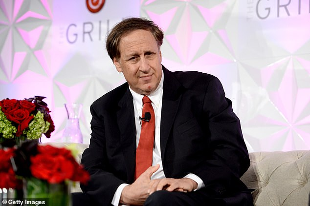 AMC CEO Adam Aron has seen his own wealth soar by more than $200million since the start of the year thanks to the share surge. He is pictured at an event in LA in 2016