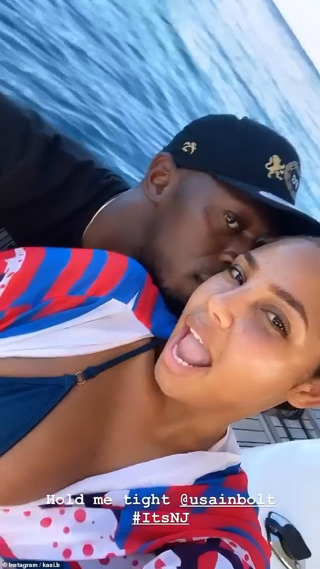 Couple's getaway:In a clip shared on Kasi's Instagram stories, the new parents could be seen letting their hair down as they enjoyed time on the stunning yacht