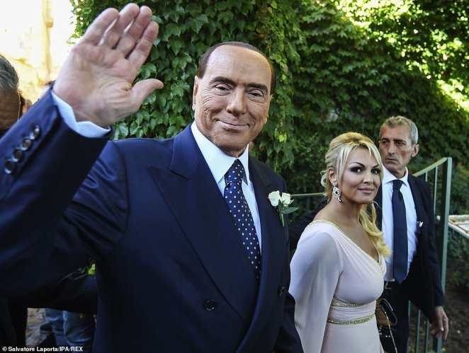 Silvio Berlusconi has been photographed holding hands with his new girlfriend in what is believed to be attempt to 'get even' on his ex-fiancéeFrancesca Pascale (pictured together in 2017)
