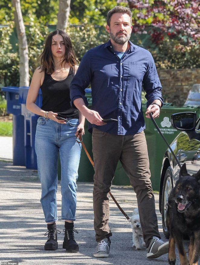 Friend approved: Last week Matt seemed to signal he likes BFF Ben Affleck's new girlfriend Ana de Armas as the big group enjoyed a grown-up's beach day. Ben and Ana (above in April) have been inseparable since first linked in May