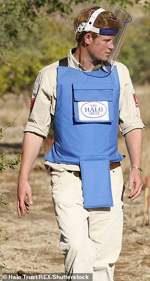 Prince Harry recreated his mother's footsteps by walking through a landmine in 2010 in Mozambique
