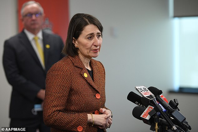 Premier Gladys Berejiklian (pictured on Wednesday) reiterated that while masks are important in reducing the spread of COVID-19, they are a fourth line of defence