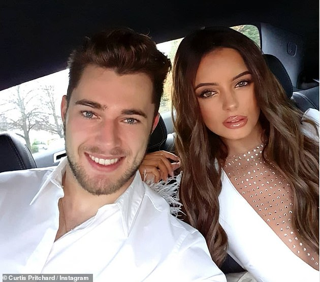 In the past: The reality TV star, 29, split from professional dancer, 24, in March, just eight months after leaving the Love Island villa (pictured before their split)