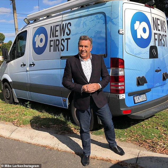 Mike Larkan was about to go live on air when he learned he was sacked in Channel Ten's budget cuts