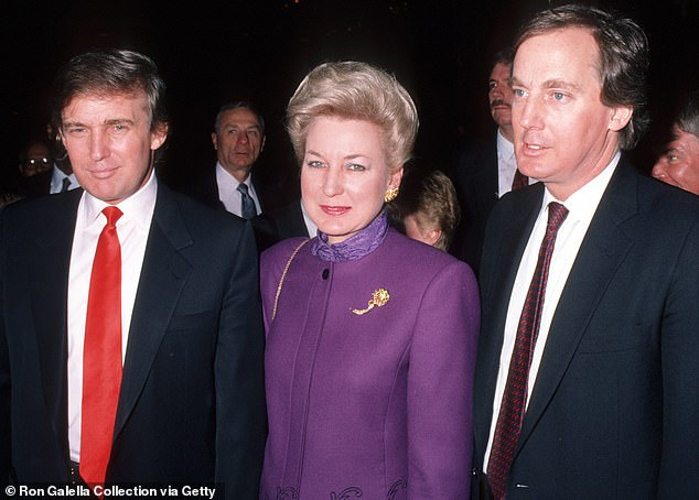 Donald Trump, Maryanne Trump, and Robert Trump pictured in 1990