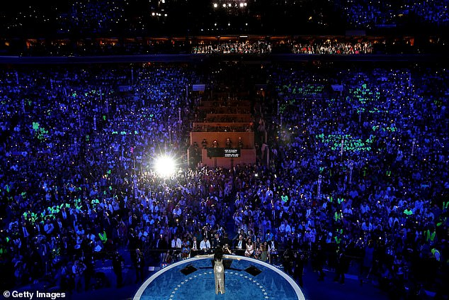 Democrats have long attracted major talent to their conventions. Here singer Katy Perry performs before a packed arena in Philadelphia in 2016