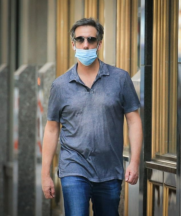 DailyMail.com spotted Michael Cohen out on the streets of New York City on Friday