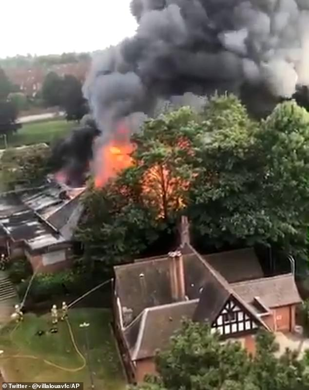 A huge fire has broken out at the famous Cadbury Club in Birmingham, sending a plume of smoke hundreds of feet into the air. West Midlands Fire Service have more than 50 firefighters tackling the blaze