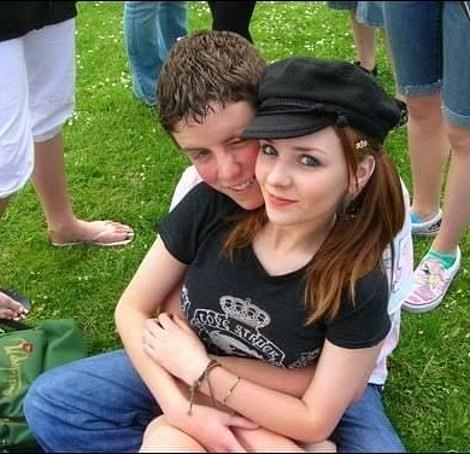 First love: Lissie and Andrew, both aged 16, the year she agreed to be his girlfriend