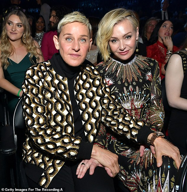 Shock: Local residents in the neighborhood where Ellen DeGeneres and Portia de Rossi live and were burglarized last month, have allegedly been told by cops that the burglary was an 'inside job'