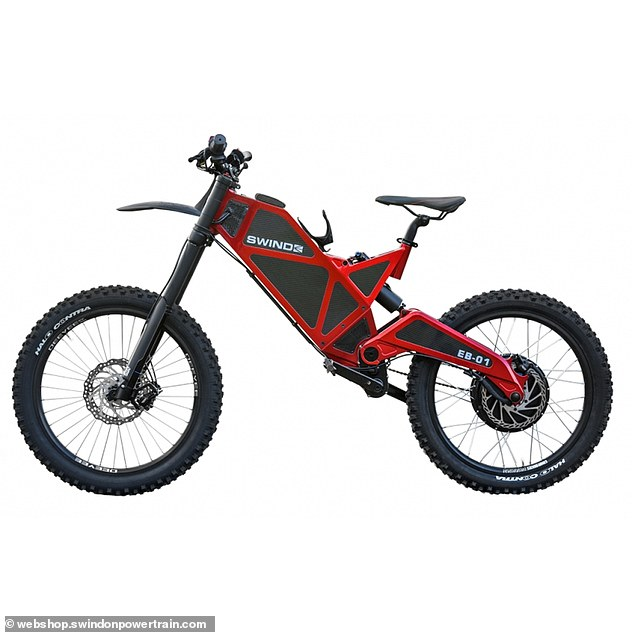 Power: The Swind EB-01 is said to have an official top speed of 60mph but capable of going up to 80mph with `` a bit of tinkering '' (stock image of the electric bike)