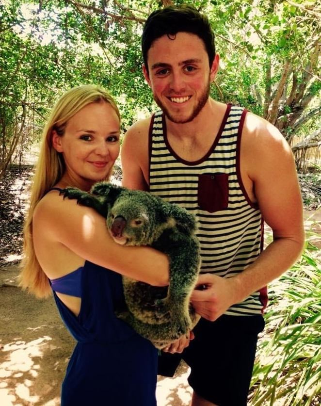 Another wonderful memory: It's 2014 and Lissie and Andrew meet a koala on Australia's Magnetic Island