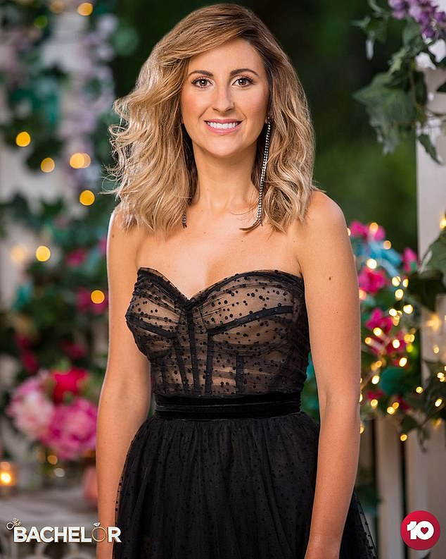 Favourite to win:The stunning nurse (pictured) is currently the main frontrunner to win Locky Gilbert's heart on The Bachelor this season, according to TAB's latest betting odds