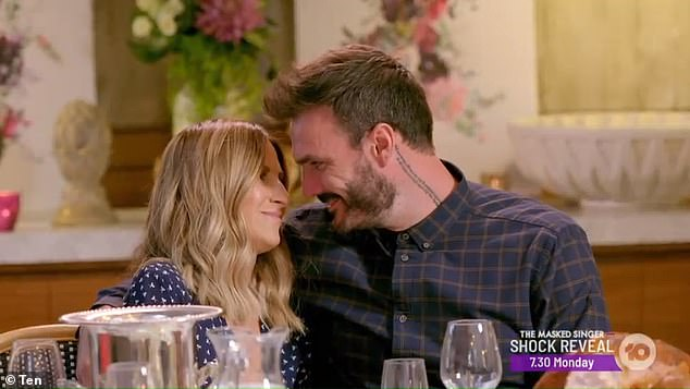 The look of love? Irena and Locky shared incredible chemistry during the photo shoot group date on Thursday night when the beauty played his girlfriend at a family lunch
