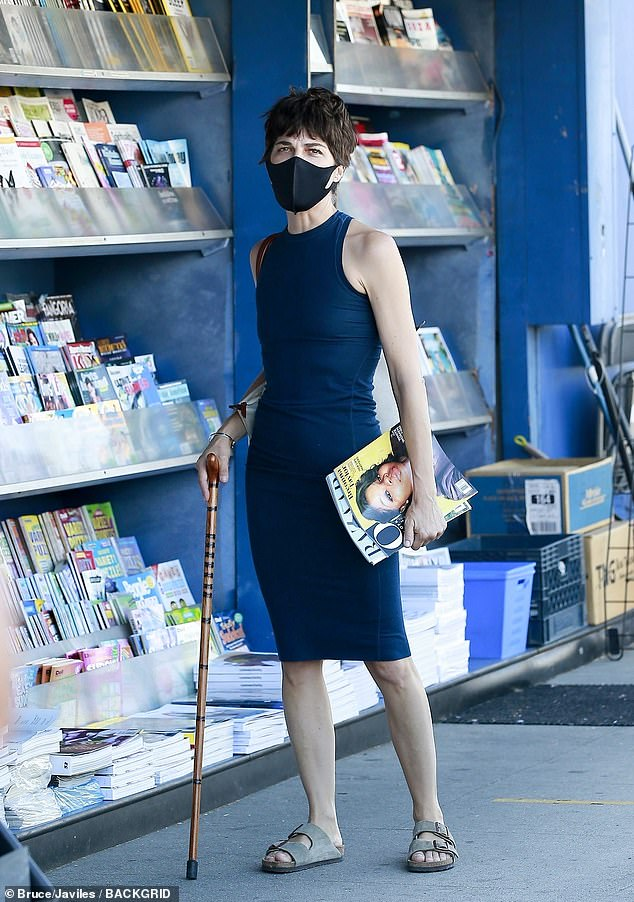 Picking up essential reading: Selma Blair looked gorgeous and in great shape on Friday, as she was spotted doing some shopping ahead of the weekend in Studio City
