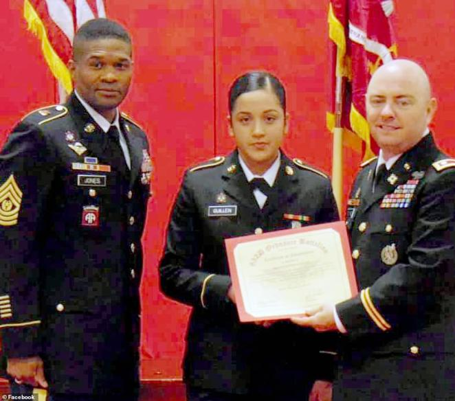 Guillen (center) disappeared from Fort Hood on April 22. Her burned and dismembered remains were found on June 30