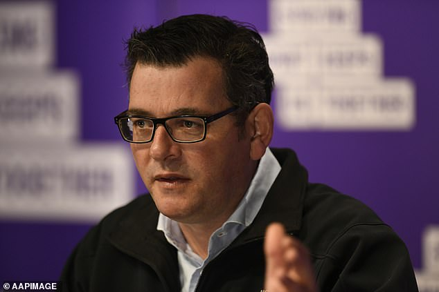 Premier Daniel Andrews (pictured) made the announcement on Saturday after being asked whether the day off would remain if the game was played interstate