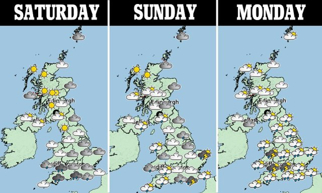 The Met Office has issued a yellow thunderstorm warning for vast swathes of England and Wales on both Saturday and Sunday - just as thousands of holidaymakers rushed back from France after the country was added to the UK's quarantine list