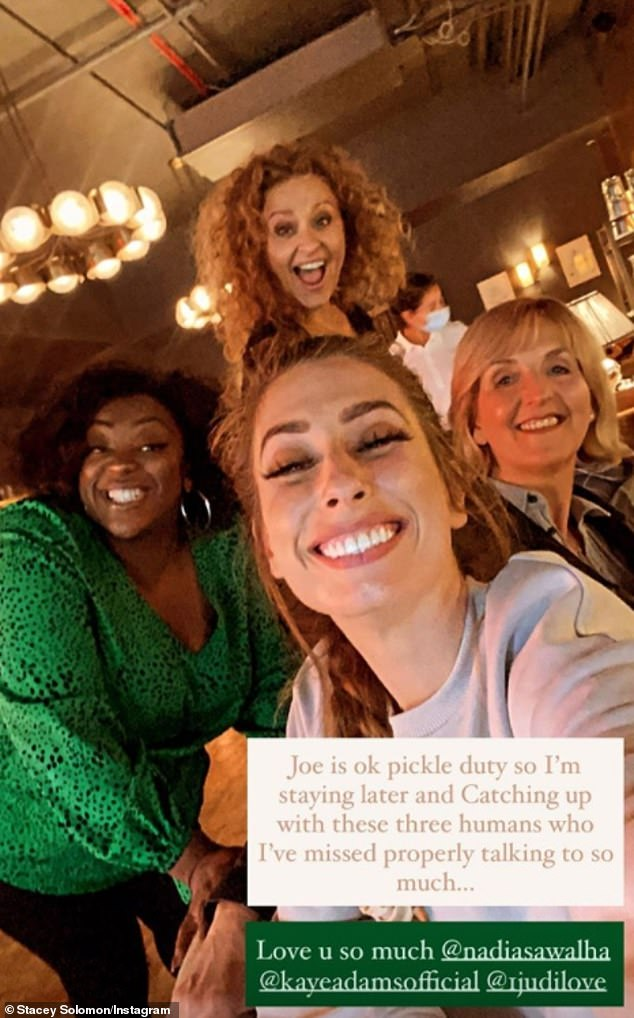 Colleagues:Nadia also enjoyed a day out with her colleagues Stacey Solomon, Judi Love and Kaye Adams