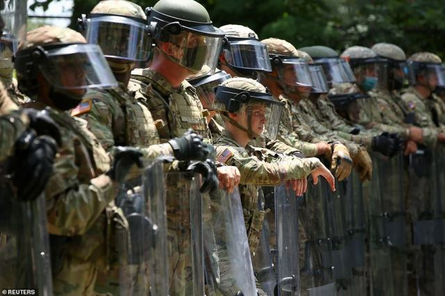 The National Guard was eventually deployed to downtown Stone Mountain to disperse protesters as various militia groups faced off