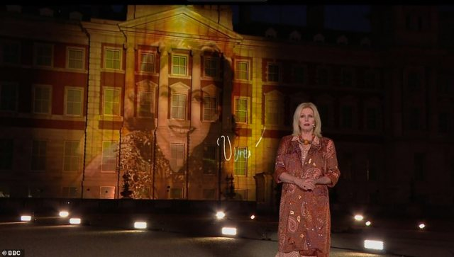 Presenter:The commemorative programme was hosted by Joanna Lumley, who led viewers who a host of tributes from former servicemen and celebrities