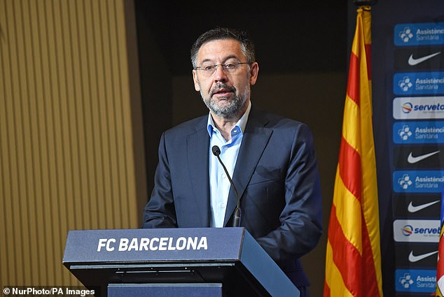 Messi is annoyed with the way club president Josep Bartomeu and the board are taking them