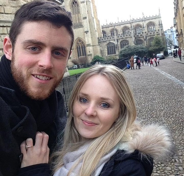 Pc Harper, a Thames Valley Police traffic officer, and Lissie Harper (pictured together) had only been married four weeks when he died