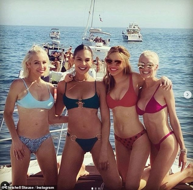 Bikini Babes: She shared a second photo and wrote: 'There is a heat wave in Los Angeles.  Stay hydrated More photos from yesterday!  '