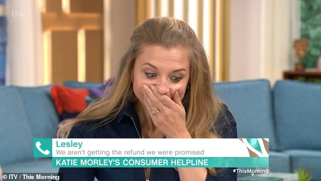 Slip: Katie Morley was on the show taking calls from people who needed consumer advice when she was swearing.  She was quick to put a hand over her mouth realizing her blunder