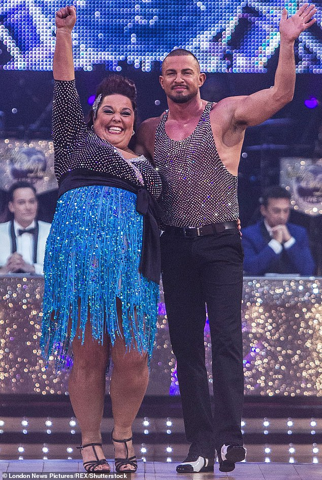 Dancing queen: Lisa appeared on the 2012 Strictly Come Dancing series where she placed fifth and was inspired to prove to fans that she wasn't just a 'big monkey'