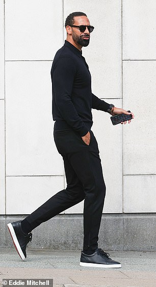 Rio Ferdinand arrives at Crawley Magistrates Court