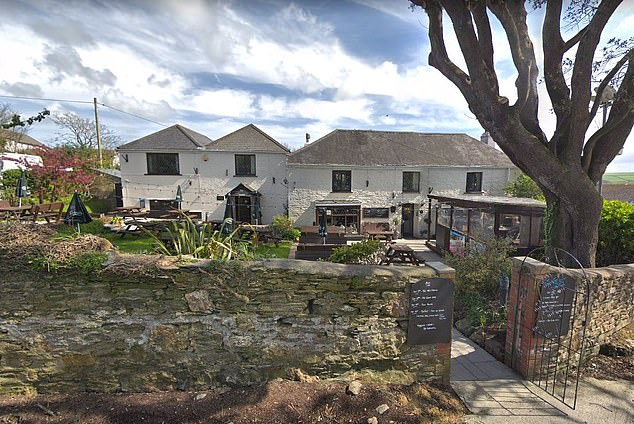 Pictured: The Tavern Inn in Newquay, where owner Kelly Hill says customers are ordering huge meals and being belligerent