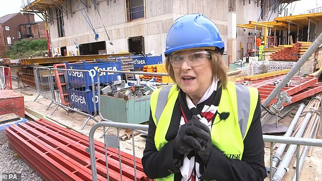 The 'performance garden' will open in 2022 after Lady Anne Dodd (pictured) offered to meet the costs of the build