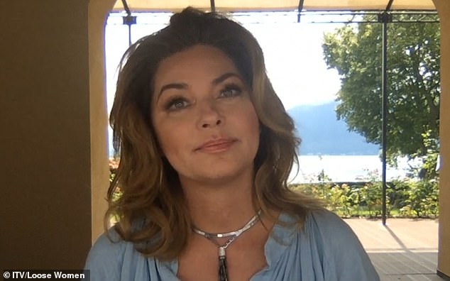 Open book: Shania Twain previously feared she would never be able to sing again, after undergoing open throat surgery when she contracted Lyme disease