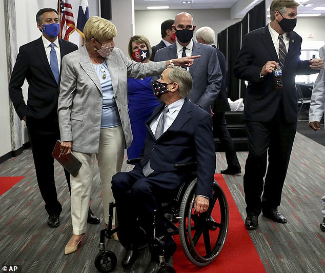 Abbott, in a wheelchair since 26, said cities that defund police couldn't raise property taxes