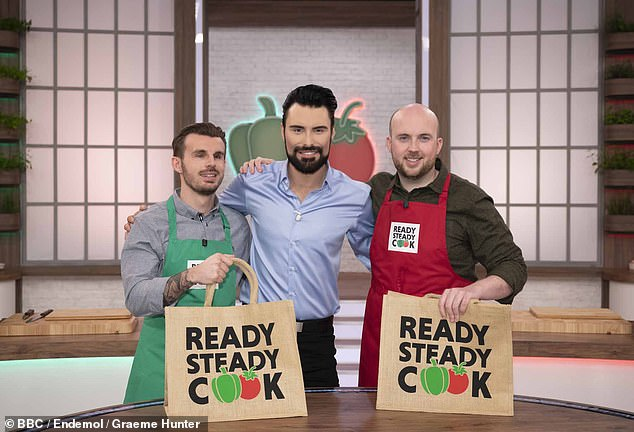 In demand: Rylan said: 'I don't want to be like chlamydia. I don't want to be all over the f*****g shop and everywhere, that's definitely not what I want' (pictured on Ready Steady Cook)