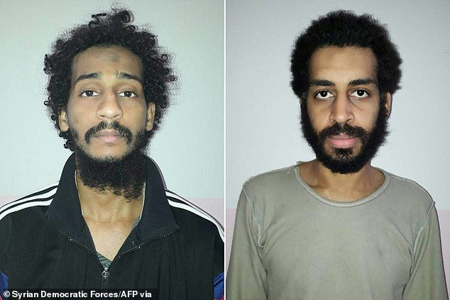 El-Shafee El-Sheikh (left), 32, andAlexanda Kotey (right), 36, were members of the 'Beatles' terror cell which was behind the beheading of two British aid workers and two US journalists