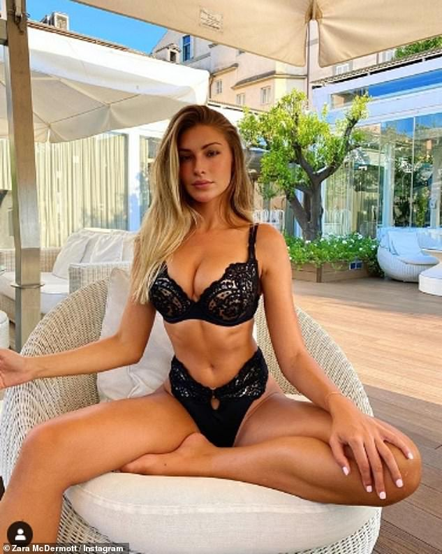 Zara McDermott wears lingerie after signing modelling contract