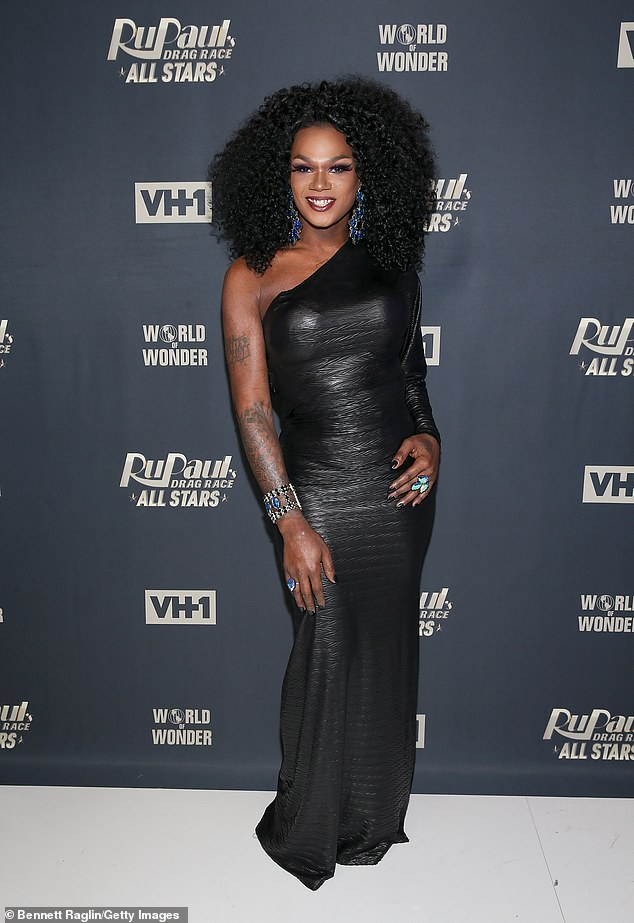 RIP: RuPaul's Drag Race alum Chi Chi DeVayne passed away, age 34, on Thursday after being hospitalized with pneumonia (pictured in 2018)