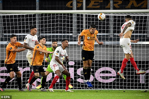 Ocampos (right) scored the winner to knock out English side Wolves in the quarter-finals