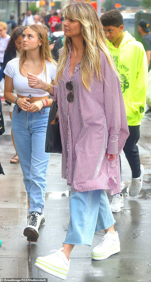 Petition: In her court record, Klum included a statement from her daughter Leni, 16, in which she states that she and her siblings want to go to Germany with their famous mom.  Klum says Leni is planning a photoshoot for German Vogue during their stay