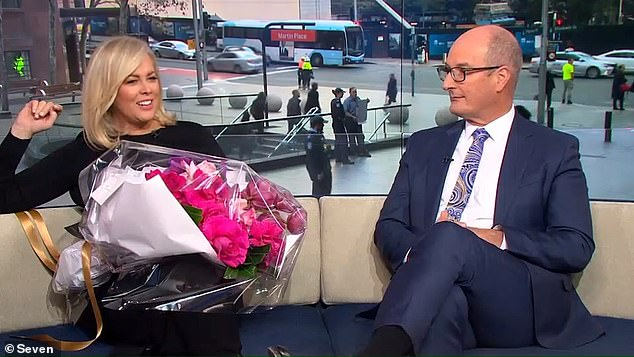Out with the old, in with the new: Melissa was replaced on Sunrise by Sam Armytage (left)