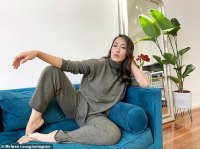 Melissa Leong trades her polished ensembles for a relaxed look in isolation