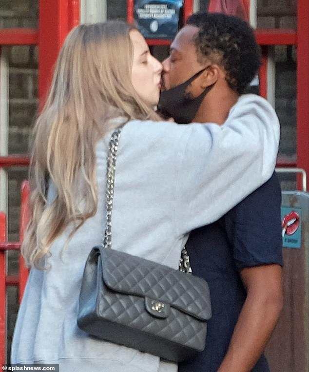 Wow: Margaux pulled Patrice into a tight embrace